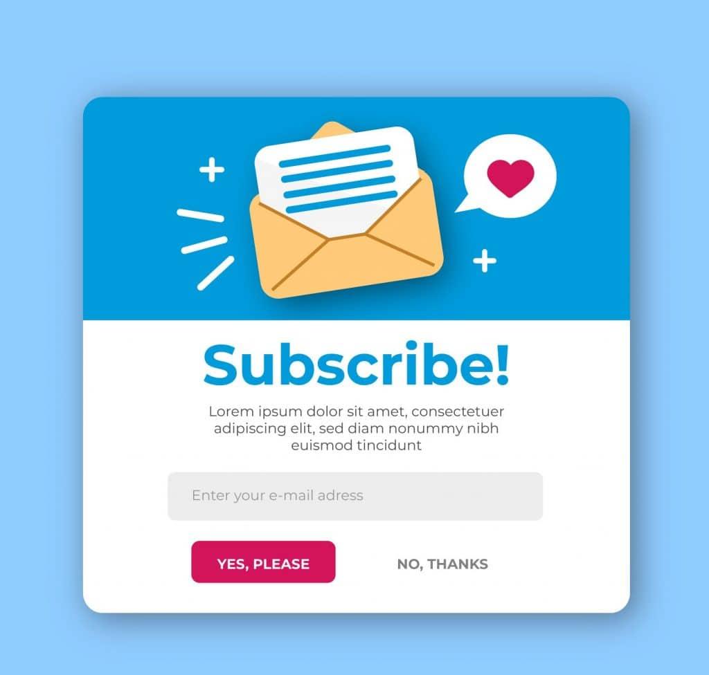 Esempio di Lead Magnet con valore immediato: newsletter che dà poi accesso a ulteriori strumenti.